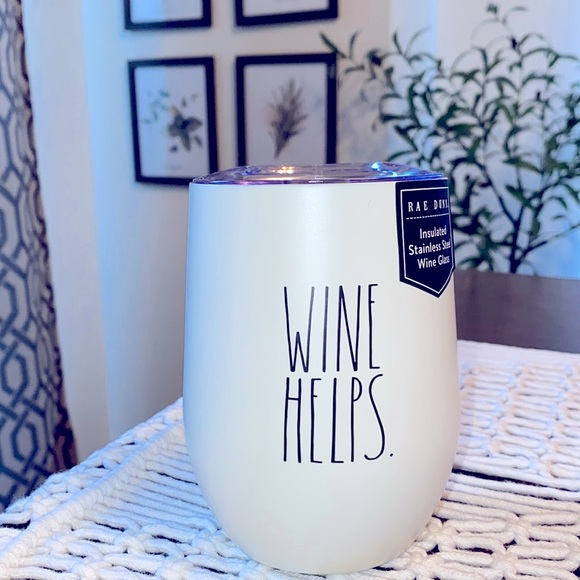Rae Dunn Insulated Stainless Steel Wine Glass
